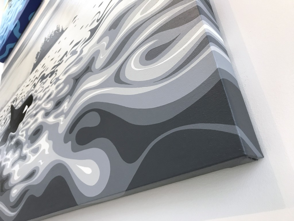"""Art By Di - 'Calmer Waters' 2018 - 24""""x36"""" - $1500"""