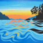 "Arbutus Island Sunset - Art By Di - 2018 - 20""x20"""