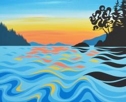 'Arbutus Island Sunset'