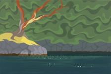 """""""Sea of Green II"""" - Di - 24""""x36"""" - sold"""