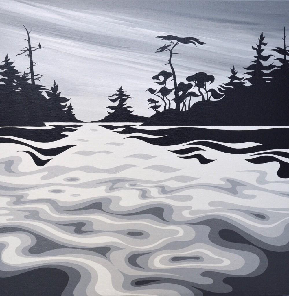 "'Popham Island' - Di - 2018 - 16""x16"" - Acrylic on canvas - $600 + PST"