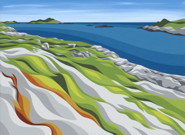 """'Polly's Cove' - Art By Di - 18""""x24"""" - sold"""