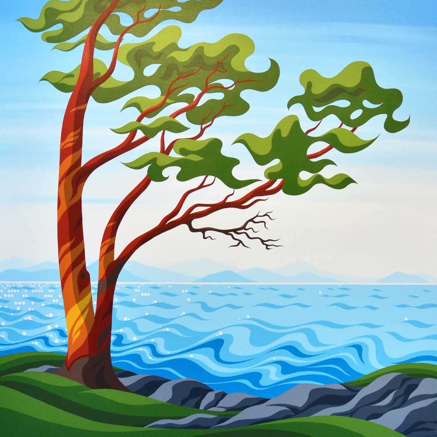 """Art By Di - 'Pacific Madrone' 2019 - 36""""x36"""" - sold"""
