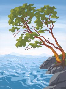 'Pacific Madrone II' - Art By Di - 2019 - acrylic on canvas - sold