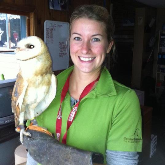 Me and Tyto the ambassador barn owl, circa 2009