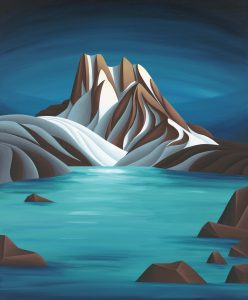 "Di - Mt. Burgess 2020 - 30""x36"" - sold"